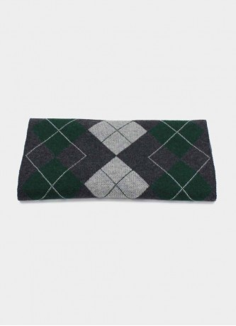 Checked scarf tricot