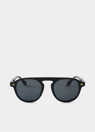 Retro round sunglasses black