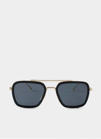 Square pilot sunglasses black