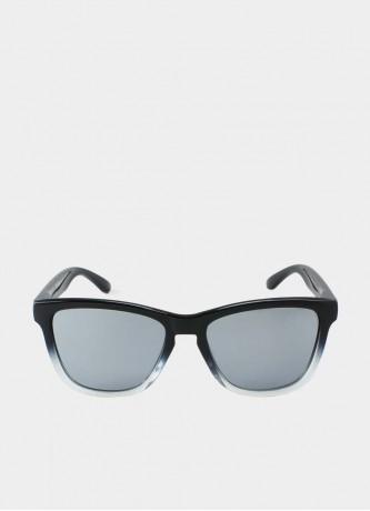 Wayfarer sunglasses black gradient with grey mirror lenses