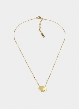 Love hearts necklace gold