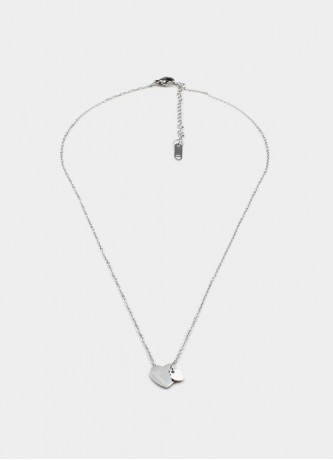 Love hearts necklace silver