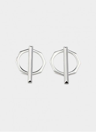 Dual earrings silver