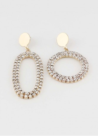 Crystal earrings gold