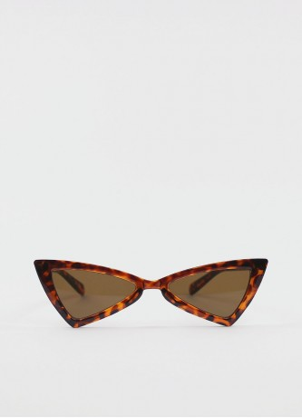 Cat-eye bowknot sunglasses brown tortoise