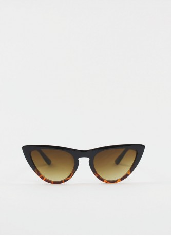 Cat-eye retro sunglasses brown tortoise
