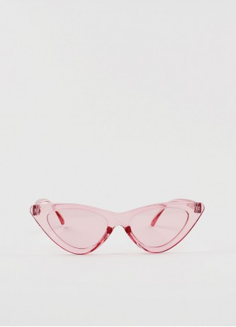 Cat-eye triangle sunglasses pink