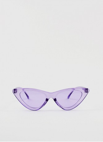 Cat-eye triangle sunglasses purple