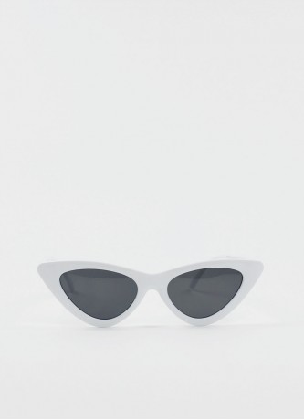 Cat-eye triangle sunglasses white